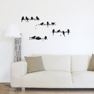STICKER WHISPER OF BIRDS BLACKS DG-08813