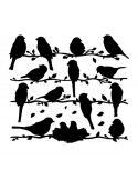 STICKER WHISPER OF BIRDS BLACKS DG-08813