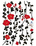 STICKER RED FLOWER TREE IN THE WIND DKS-0103