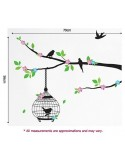 STICKER RED BIRDCAGE BIRDS DKS-0105