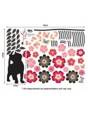 STICKER CATS & FLOWERS DP-08057