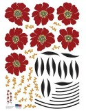 STICKER RED BEADS FLOWERS DP-08059