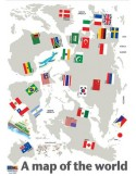 STICKER WORLD MAP WITH FLAGS DP-08168