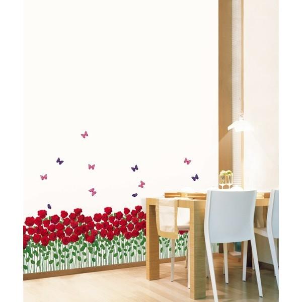 STICKER ROSE BUTTERFLY FLOWER BED DP-08179