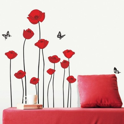 STICKER RED POPPIES DS-08218