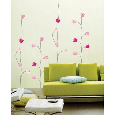 STICKER PINK TULIPS DS-08225