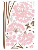 STICKER LONG STEM PINK FLOWER DS-08242