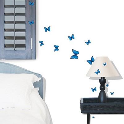 STICKER BLUE BUTTERFLIES DS-08243