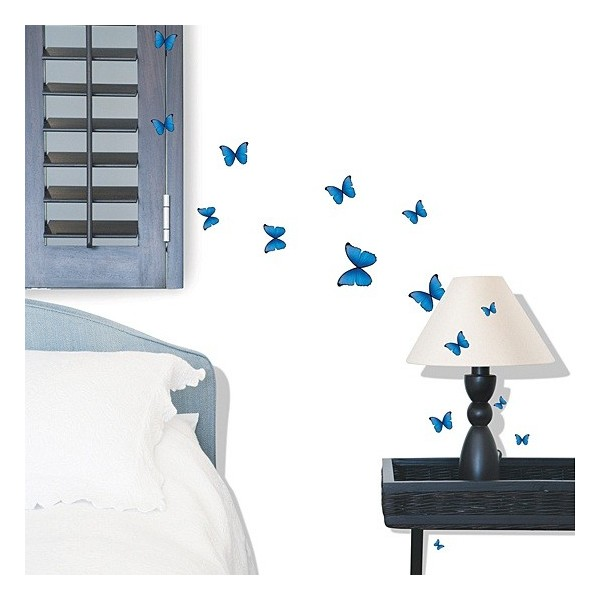STICKER BLUE BUTTERFLIES DS-08243