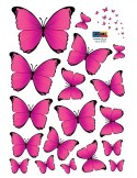 STICKER PINK BUTTERFLIES DS-08244