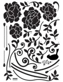 STICKER BLACK ROSES DV-08609