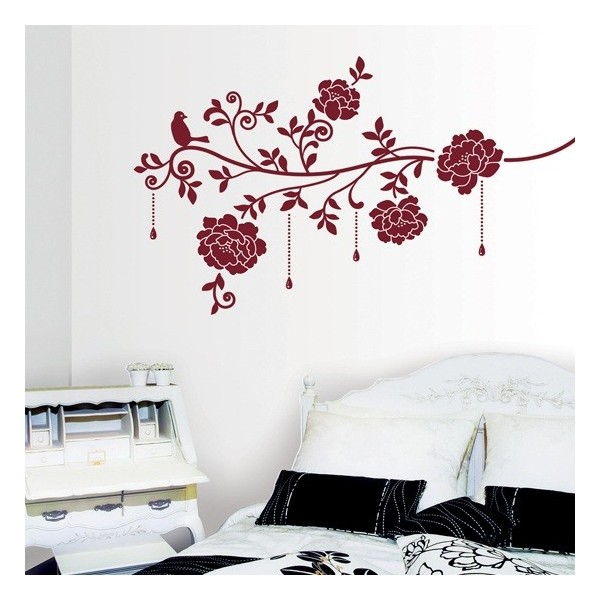 STICKER WINE COLOUR ROSES DV-08610