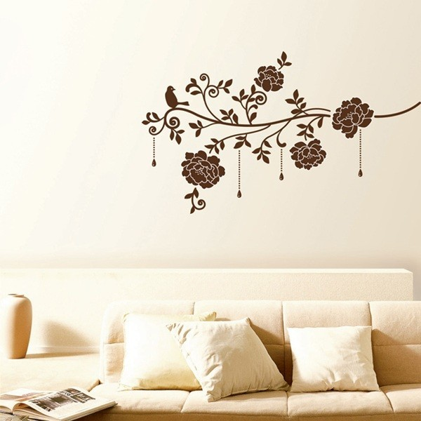 STICKER DARK BROWN ROSES DV-08612