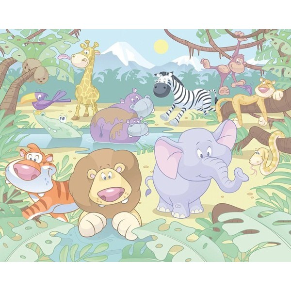 Fotomural Infantil BABY JUNGLE SAFARI