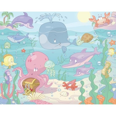 Fotomural Infantil BABY UNDER THE SEA