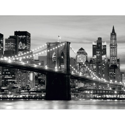 Fotomural BROOKLYN BRIDGE BLACK AND WHITE
