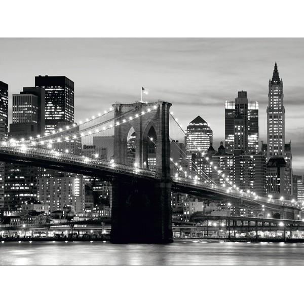 Fotomural BROOKLYN BRIDGE BLACK AND WHITE
