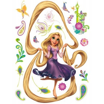 STICKER DISNEY RAPUNZEL AND HER HAIR