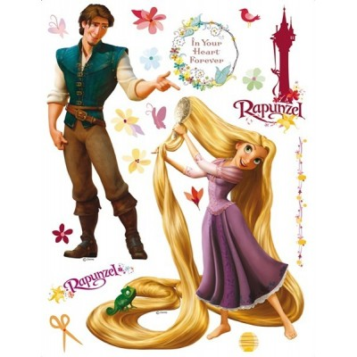 STICKER DISNEY RAPUNZEL AND PRINCE DK-852