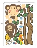 STICKER MONKEY HANGING OVER TREE DS-08219