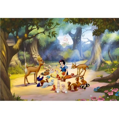 Fotomural SNOW WHITE WHIT ANIMALS FTD-0265