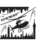 STICKER FLY IN THE SKY BLACK DG-08809