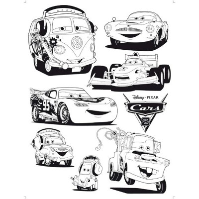 STICKER DISNEY CARS 2 FLOCK DK_878