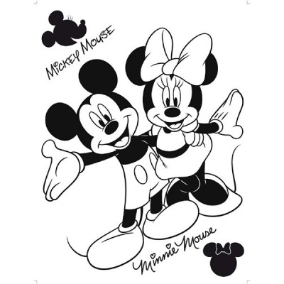 STICKER DISNEY MICKEY & MINNIE FLOCK DK_875