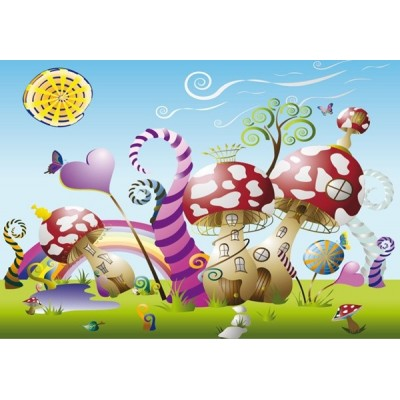 Fotomural infantil MUSHROOMS BIG FT-0097