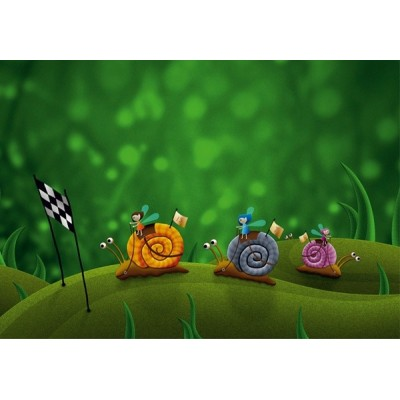 Fotomural infantil RACE ON SNAILS FT-0106