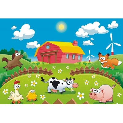 Fotomural infantil FARM FT-0160