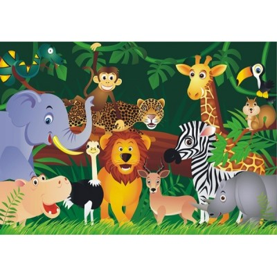 Fotomural infantil JUNGLE ANIMALS FT-0160