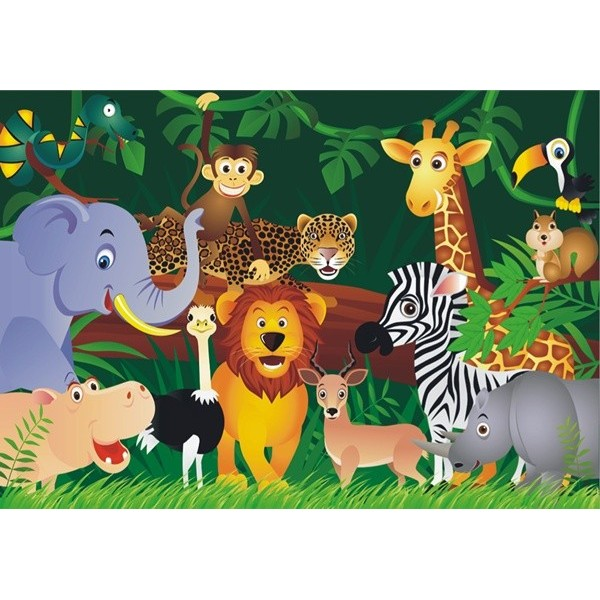 Fotomural infantil JUNGLE ANIMALS FT-0160