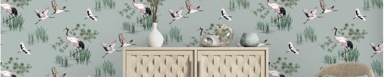 Papel pintado con pájaros y aves