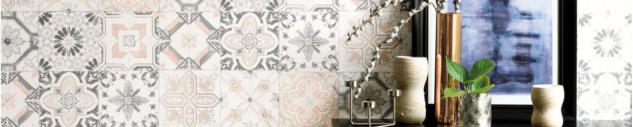 Papel Pintado de azulejos con texturas Gresite
