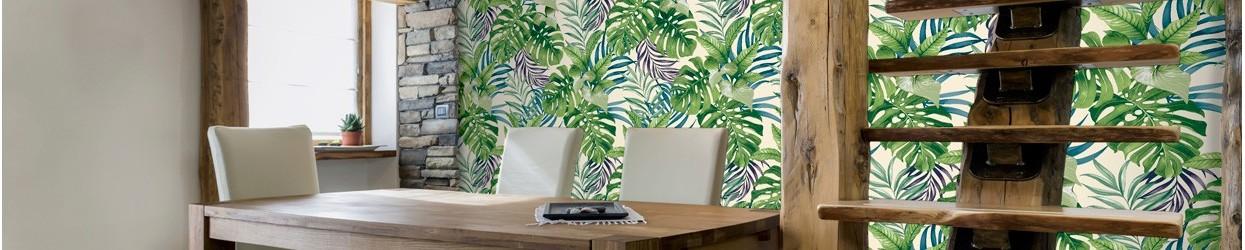 Papel pintado naturaleza - plantas y hojas Tropicales