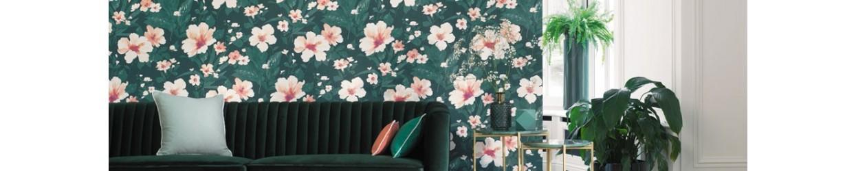 Paper pintat floral de Casadeco