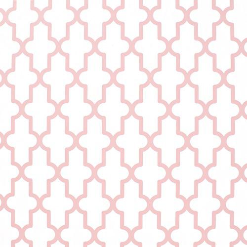 Papel pintado geométrico rosa