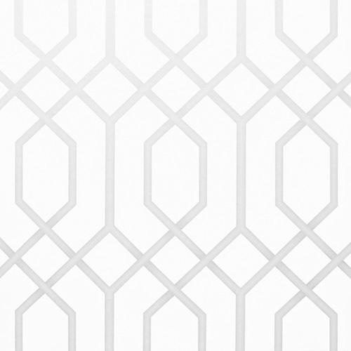 Papel pintado geométrico gris