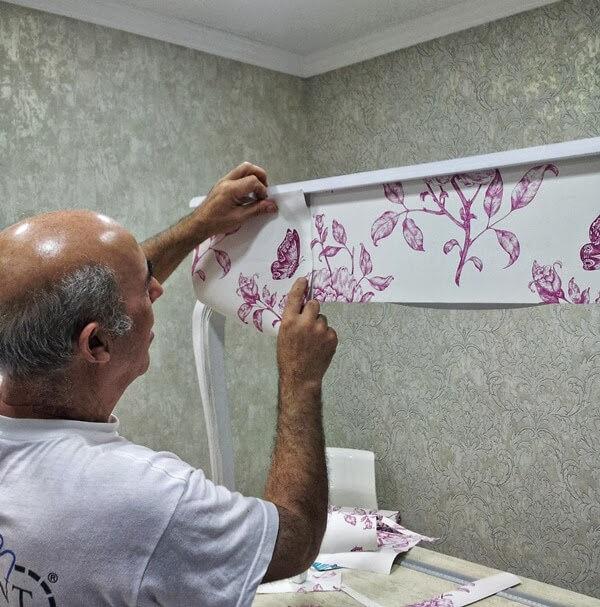 Cómo empapelar un mueble con papel pintado