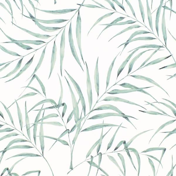 Papel pintado hojas tropicales acuarela